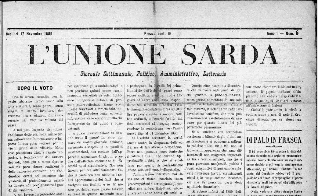 e581a64d0f L'Unione Sarda, una storia secolare - www.CarloFigari.it