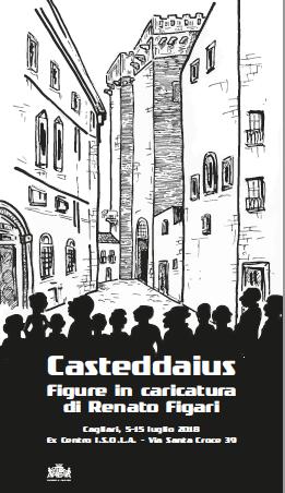 Casteddaius. Figure in caricatura