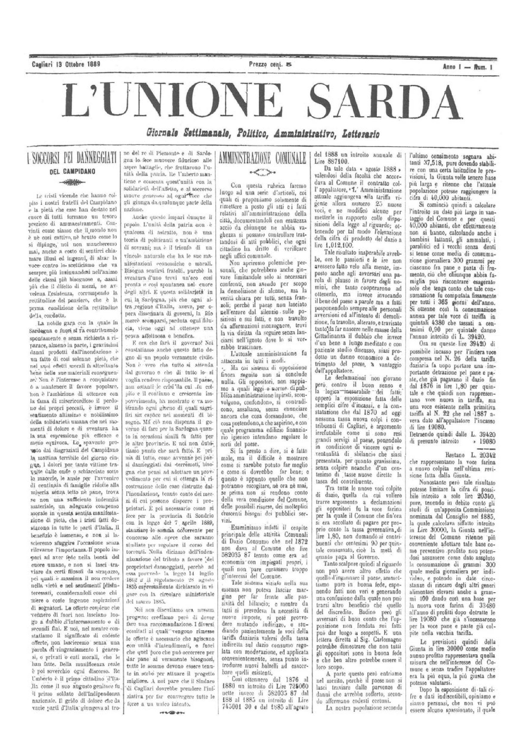 L'Unione Sarda compie 130 anni
