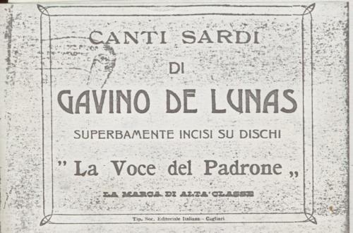 Il manifesto dei dischi di De Lunas