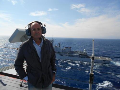 A bordo nave Cavour